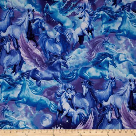 Timeless Treasures Unicorns Sky   Discount Designer Fabric