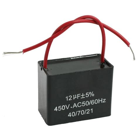 ceiling fan run capacitor cbb61 12uf ac 450v 50 60hz motor run ceiling fan capacitor