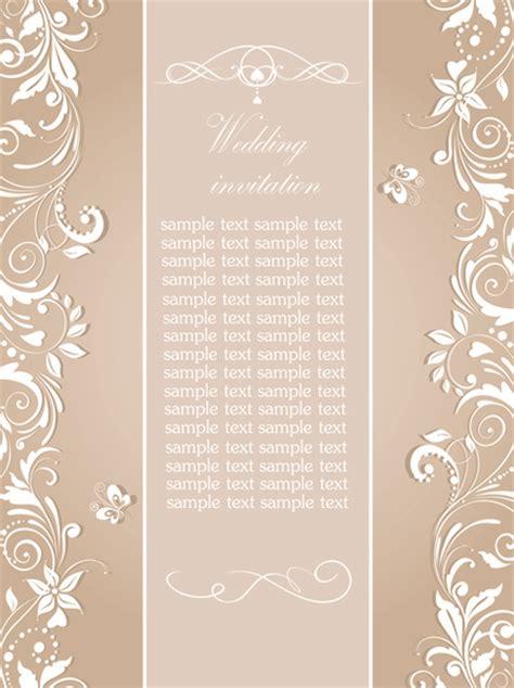 design invitation elegant floral wedding invitation card elegant design free vector