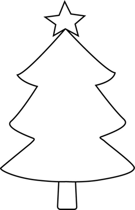 christmas tree clipart black and white clipartmonk