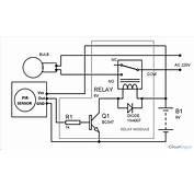 Rangkaian Sensor Gerak Untuk Lampu Otomatis