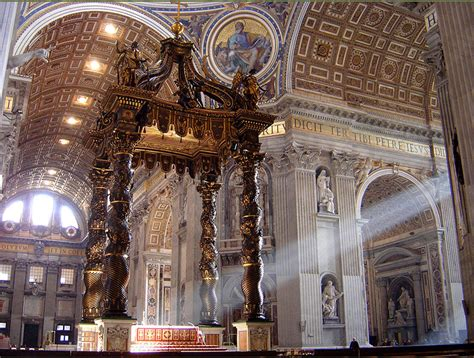 baldacchino bernini bernini his on st peters basilica maitaly