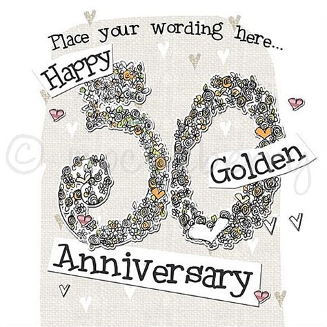 50th Wedding Anniversary Card Uk by Personalised Golden Wedding Cards 50th Wedding