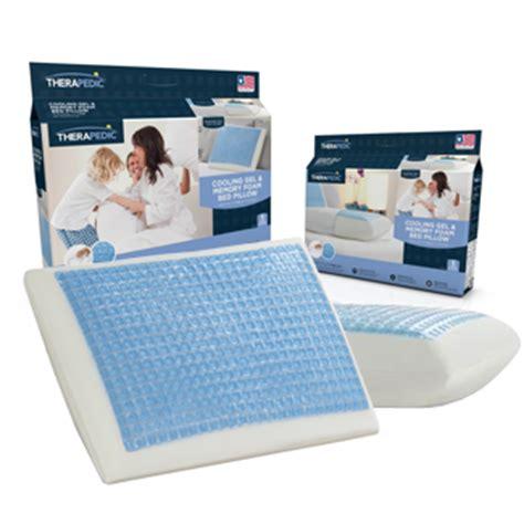 therapedic 174 cooling gel and memory foam pillow therapedic cooling gel and memory foam pillow giveaway