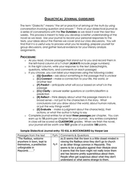 dialectical journal template 1000 images about dialectical journal on
