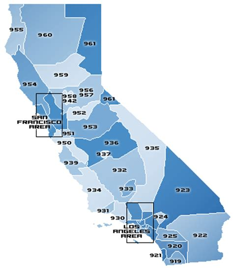 california zip code map of california area codes swimnova com