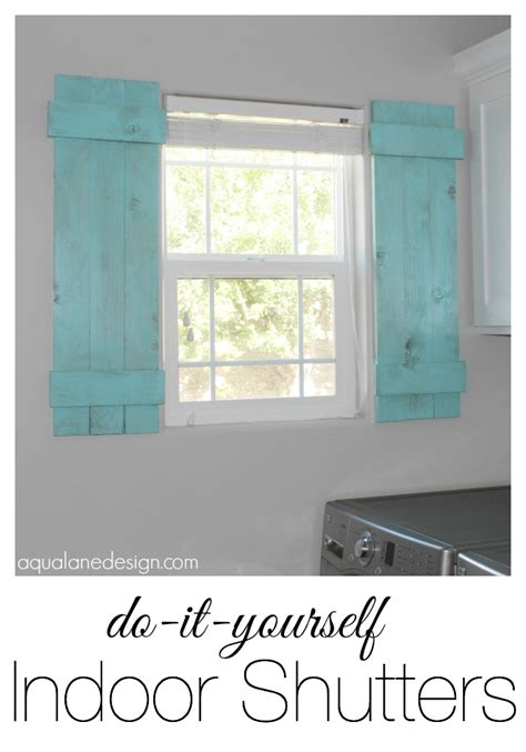 how to make interior shutters for windows diy indoor shutters aqua design