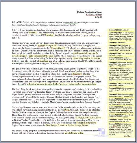 College Application Essay By Paul Rudnick Katniss Everdeen S College Application Essay Huffpost