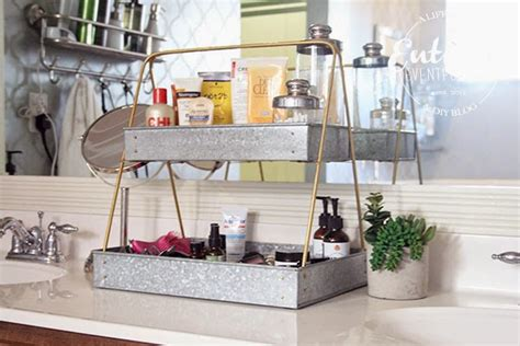bathroom counter storage ideas creative bathroom counter organizing idea entirely