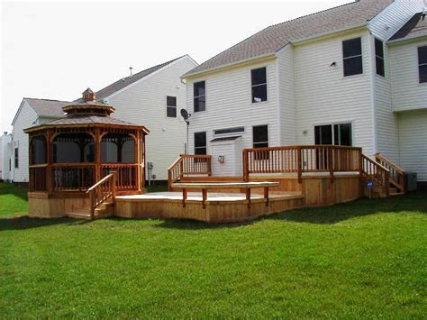 Patio Level by Multi Level Decks And Deck And Patio Combinations