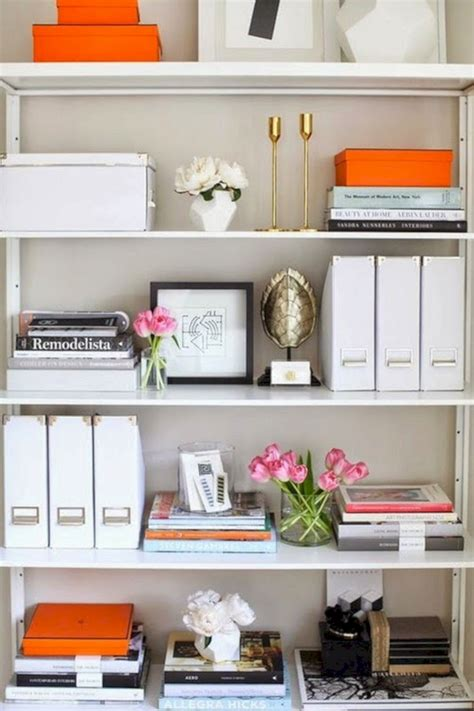 decorate office shelves office bookshelf styling ideas office bookshelf styling