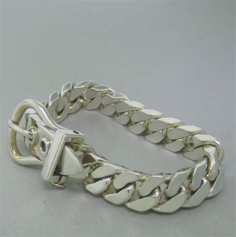 Hermes Boucle Sellier Silver Bracelet at 1stdibs