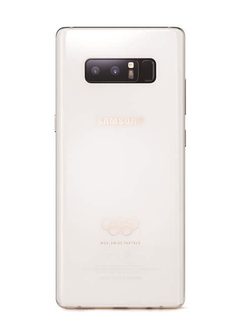 Samsung Note 8 Feb 2018 samsung has made a limited edition galaxy note 8 for the pyeongchang 2018 olympic sammobile
