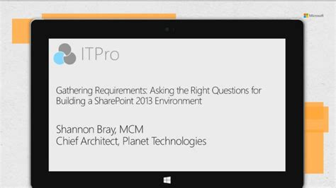 Gathering Requirements Asking The Right Questions Before Building Out A Sharepoint 2013 Sharepoint 2013 Requirements Gathering Template