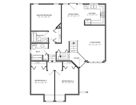 home design for 1250 sq ft 1250 sq ft splitlevel house plan 914 canada