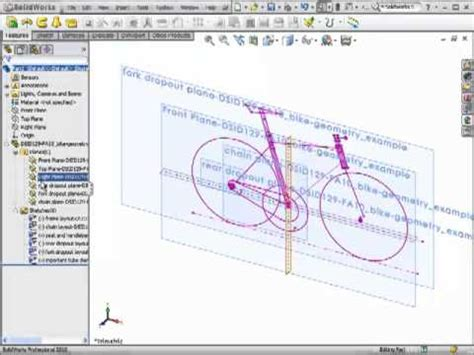 solidworks tutorial bike dsid129 fa10 bicycle fork solidworks tutorial part 1