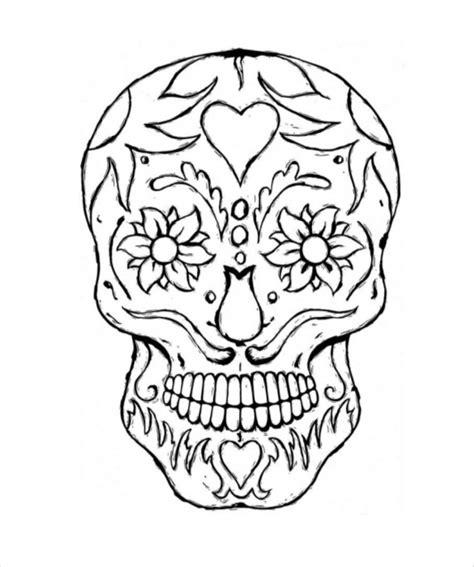 sugar skull design template skull drawing template 14 free pdf documents