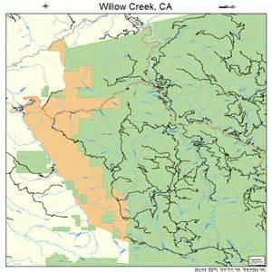 willow creek california map 0685642
