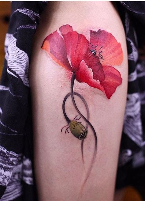 watercolor poppy tattoo best 25 poppy flower tattoos ideas on poppy