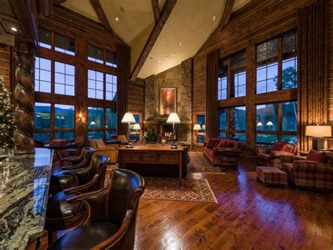 colorado room estate of the day 10 9 million luxury log home in beaver creek colorado