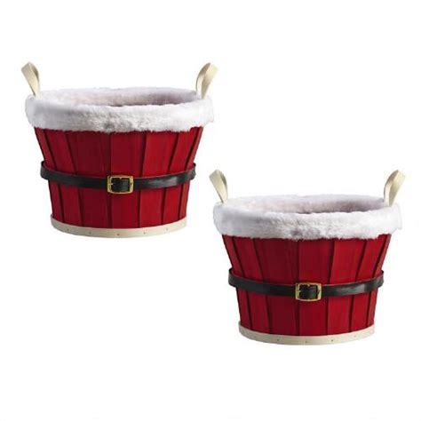 what to put in a christmas basket small santa belt basket set of 2 tree shops andthat