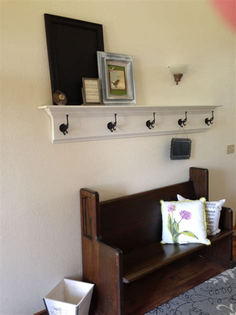 foyer shelf that c made me hooks from my favorite aisle