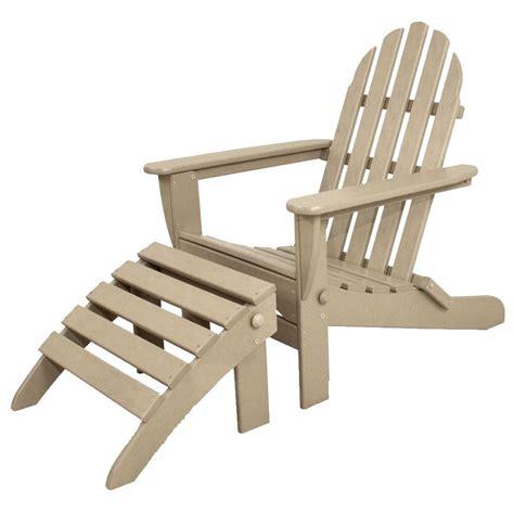 ivy terrace classics sand  piece folding plastic adirondack chair ivs  sa  home depot