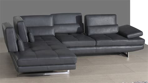 Modern Leather Corner Sofa Modern Leather Corner Sofa Adjustable Headrests And Armrests Chrome Legs
