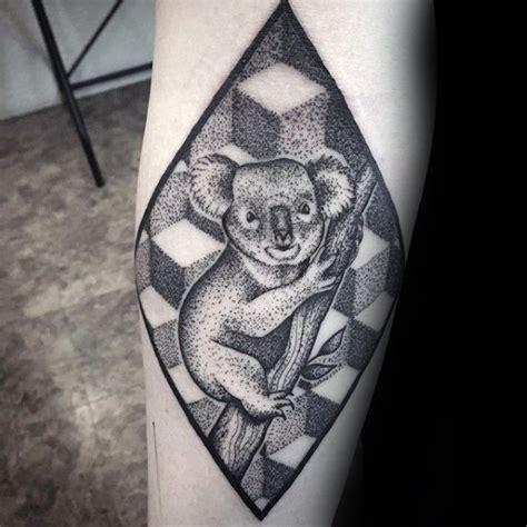 geometric koala tattoo koala tattoo