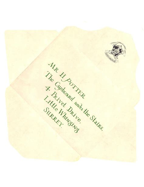 Harry Potter Acceptance Letter Envelope Template 301 Moved Permanently