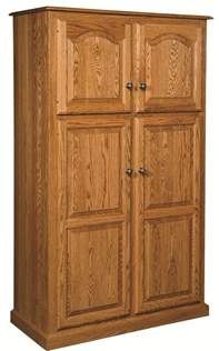 Storage Cabinets For Kitchen Amish Country Traditional Kitchen Pantry Storage Cupboard Cabinet Roll Shelf Oak Ebay