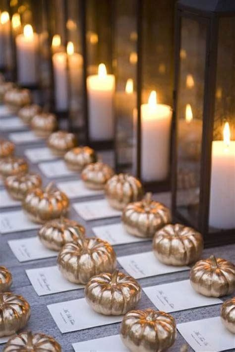 fall wedding ideas  pumpkins deer pearl flowers
