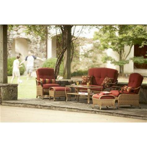 Martha Stewart Living Belle Isle Wicker Collection 6 Piece Martha Stewart Patio Furniture Sets