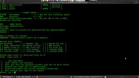 reset windows password from ubuntu reset password windows dengan ubuntu karmic koala
