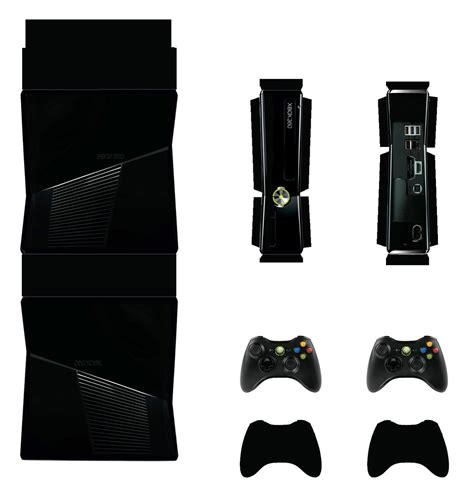 Xbox Papercraft - xbox 360 slim black papercraft by facundoneglia on
