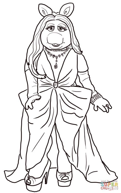 Miss Piggy Coloring Online Super Coloring Miss Piggy Coloring Pages