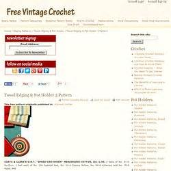 Site Directory Pearltrees Free Crochet Pattern Pearltrees