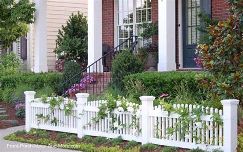 Small Front Porch Decor Picket Fence Ideas For Instant Curb Appeal