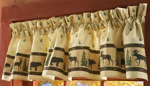 Moose Valances Rustic Northwoods Bear And Moose Design Valance