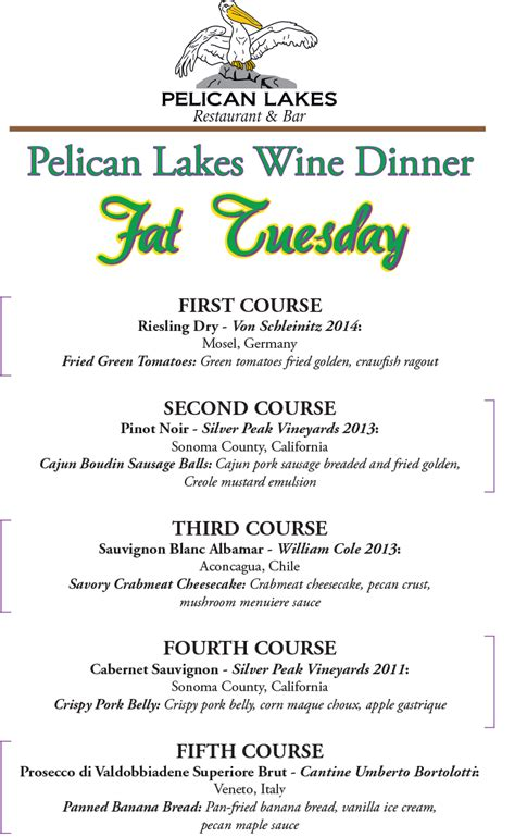 mardi gras dinner menu mardi gras wine dinner water valley