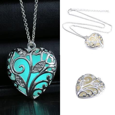 aliexpress com buy turquoise glow in the dark heart