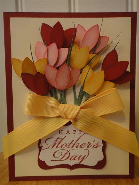 s day greeting card ideas stin up handmade tulips flower s day birthday