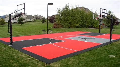 backyard basketball court cost how much does it cost to install a basketball court