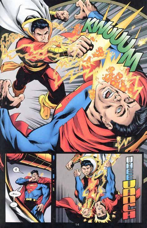 superman vs captain marvel shazam captain marvel vs superman battles comic vine
