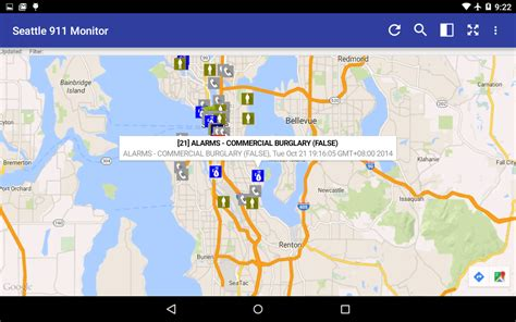 seattle incident map seattle 911 incidents monitor android apps on play