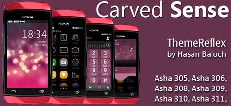 themes for nokia asha 309 mobile carved sense theme for nokia asha 305 asha 306 asha 308