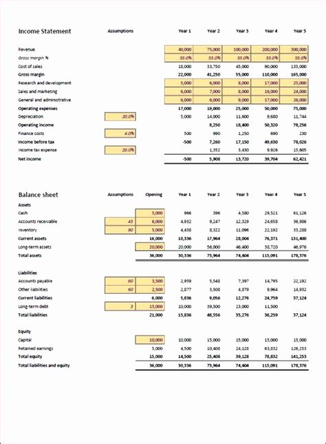 10 Projected Income Statement Template Excel Exceltemplates Exceltemplates Projected Financial Statements Excel Template