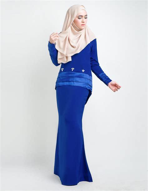 Baju Kurung Moden Electric Blue baju kurung moden anessa royal blue lovelysuri