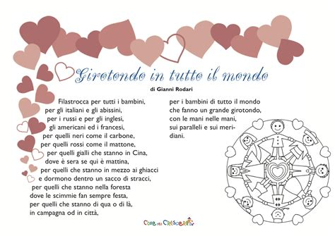 testo un mondo d girotondo poesia di antoine de exup 233 ry per bambini