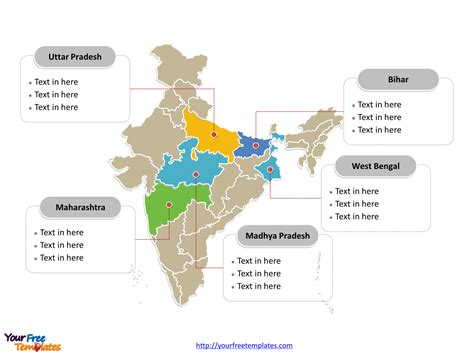 India Map Blank Templates Free Powerpoint Templates Editable Map Of India